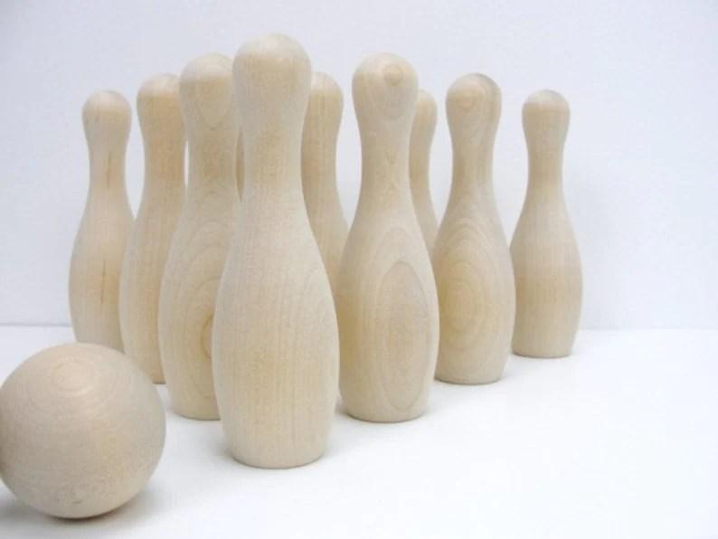 diy bowling game wooden