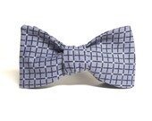 Slate Grey Geometric Bow ...