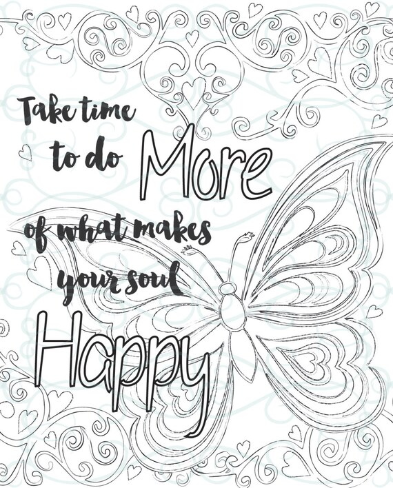 Adult Inspirational Coloring Page printable 01-Make your