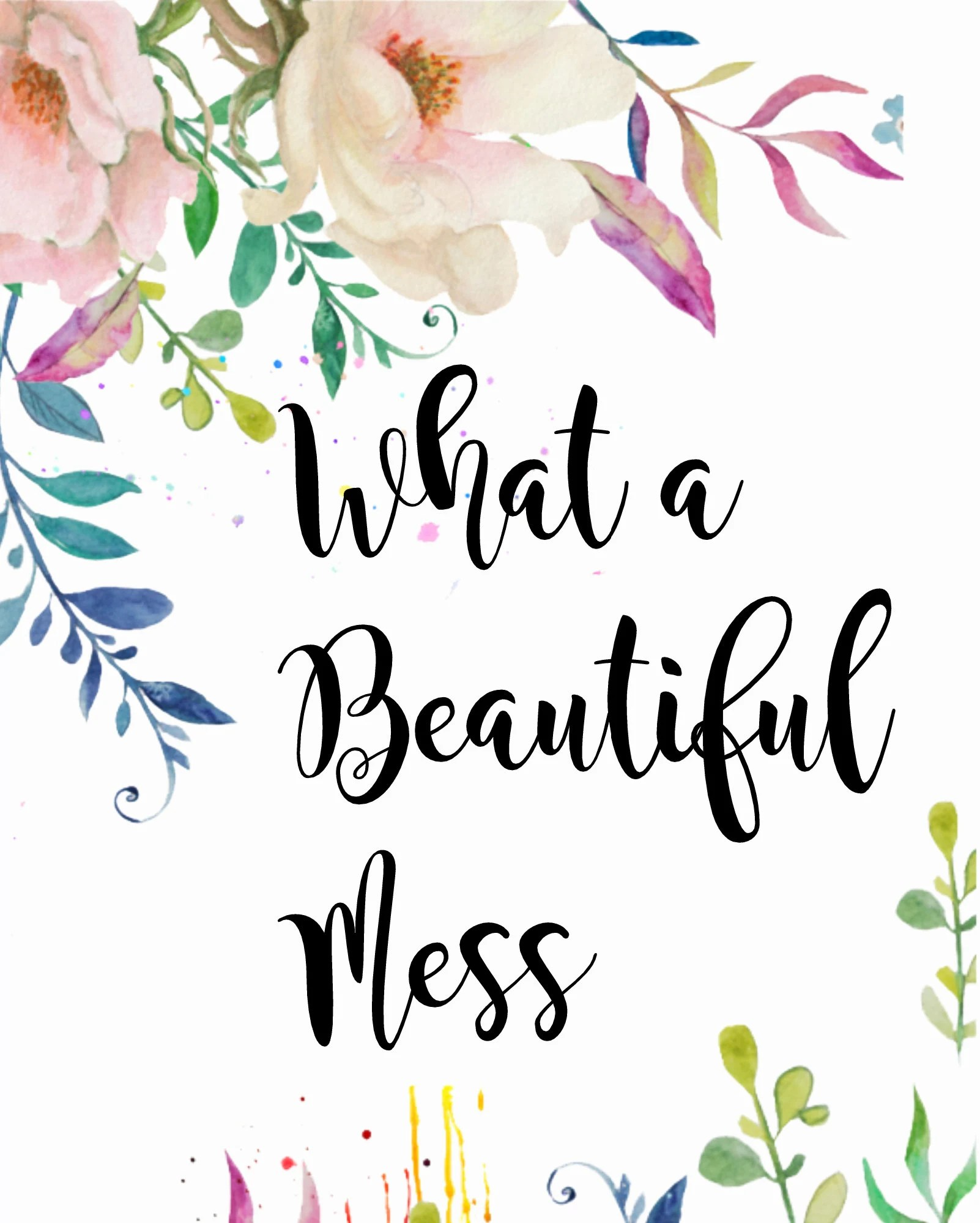Craft Room Decor Digital Download What A Beautiful Mess