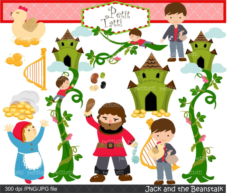 On Sale Jack And Beanstalk Digital Clipart Children Story