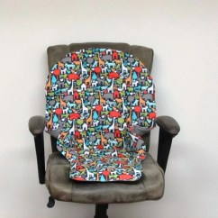 High Chair Pad Graco Desk Cb2 Animal World On Charcoal Duodiner Or Etsy Image 0