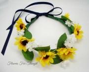 sunflower headband rustic wedding
