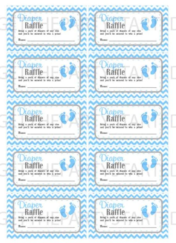 Diaper Raffle Printable : diaper, raffle, printable, DIAPER, RAFFLE, TICKETS, Printable, Shower, Raffle, Tickets