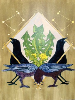 Crow Shield Print Abacus Corvus | Etsy