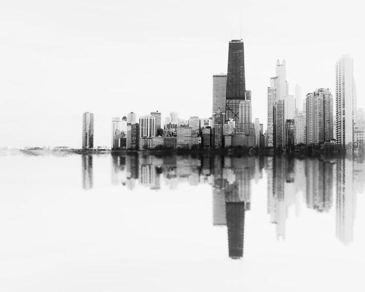 chicago skyline soundwave art