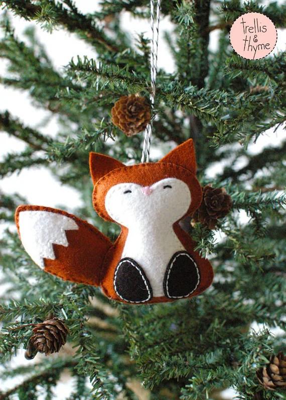 Felt Fox Ornament : ornament, Pattern, Woodland, Winter, Ornament