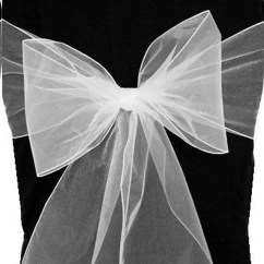 White Chair Sashes Mobile Pedicure Sheer Organza 8 X 102 Set Of Etsy Image 0