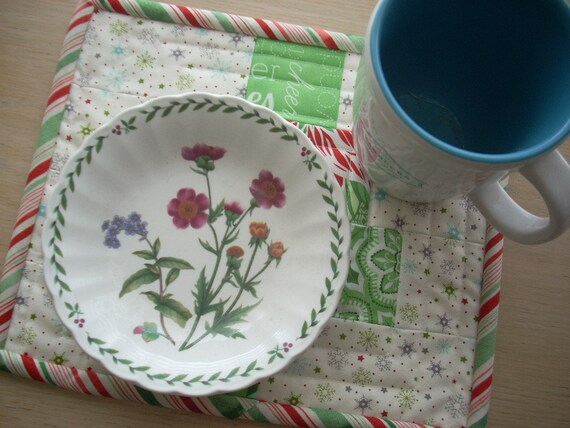 jingle Christmas tree mini quilt snack mat - FREE SHIPPING