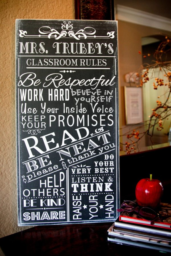 Classroom Rules Personalized Teacher School