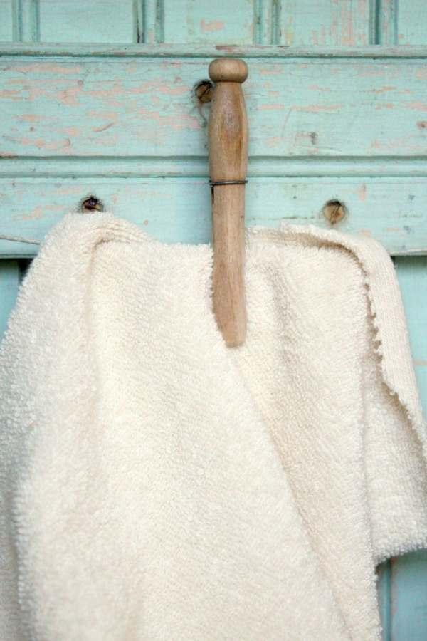 Organic Terry Cloth Fabric Fat Quarter Natural Creamy