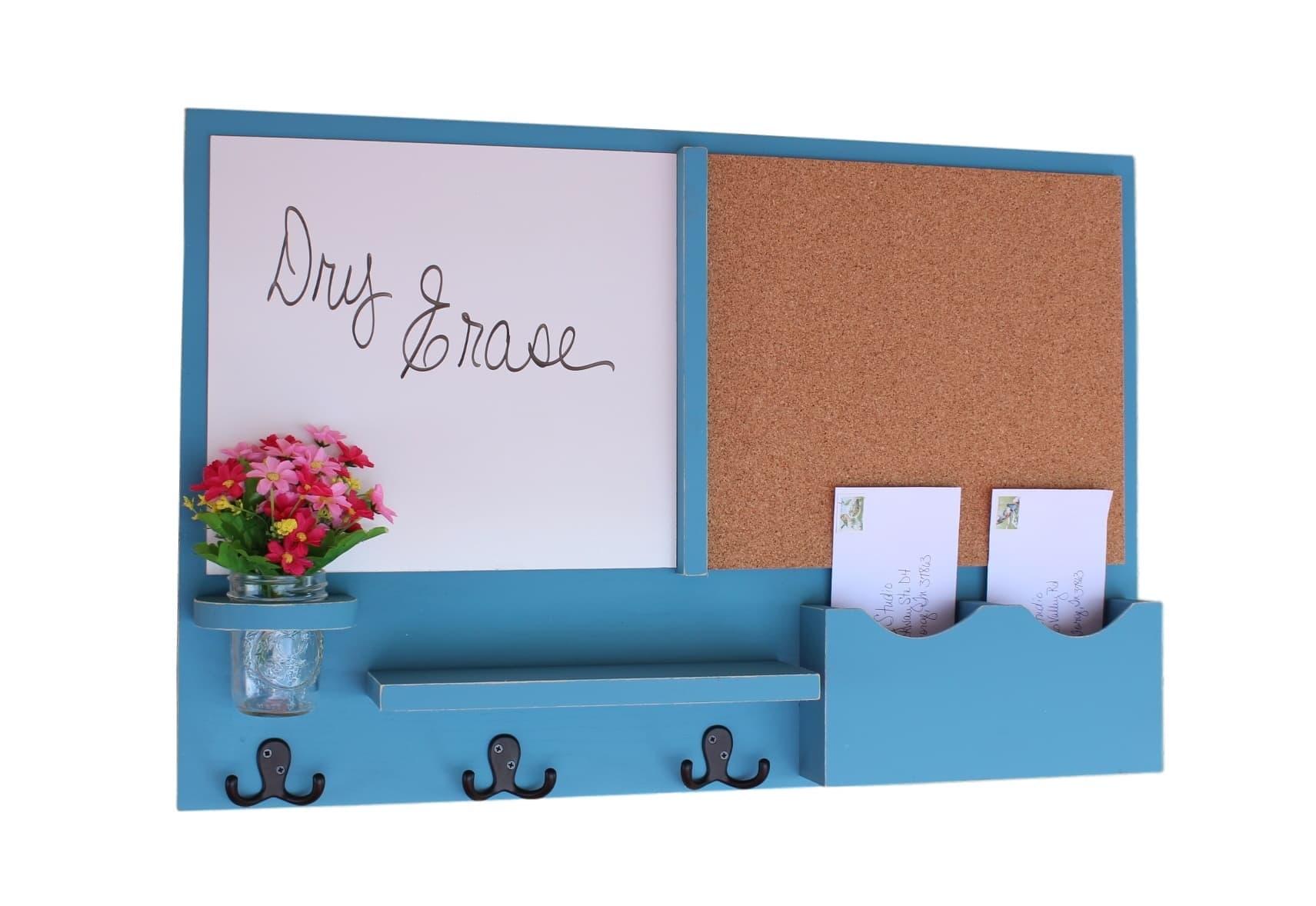 kitchen whiteboard restoring cabinets mail organizer message center cork board white