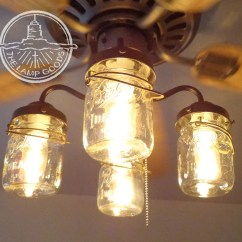 Ceiling Fan Light Kits Diagram Of Supplementary Angles Kit Vintage Canning Jar Mason Etsy Image 0