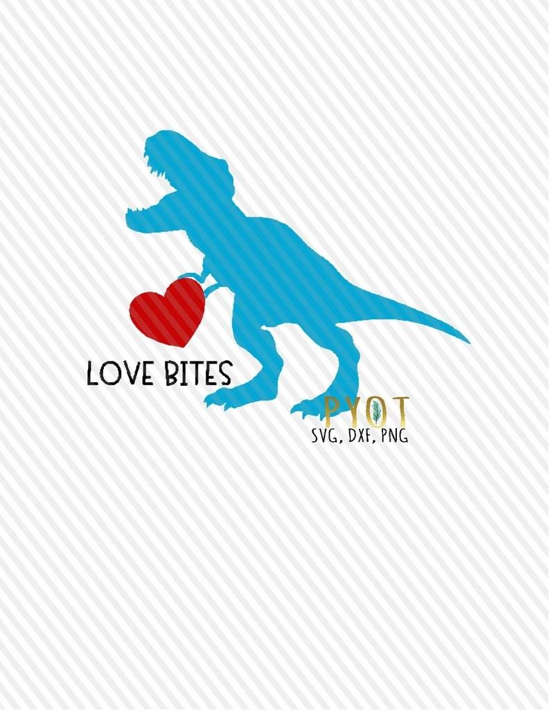 Download TRex Love Bites Dinosaur SVG DXF PNG   Etsy