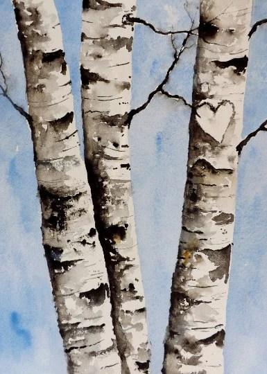 Painting Birch Trees