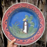 15 Extra Large Old Mexico Tlaquepaque Pottery Charger Plate Wall Decor Traditional Mexico Scene