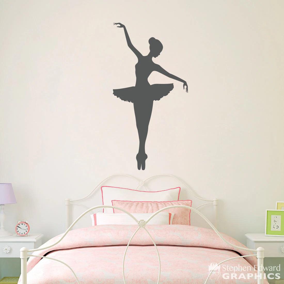 Ballerina Wall Decal Girl Bedroom Decor Dancing Wall Art