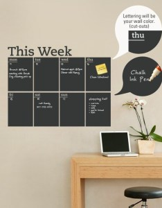 Weekly planner chalkboard calendar modern vinyl wall decal also etsy rh
