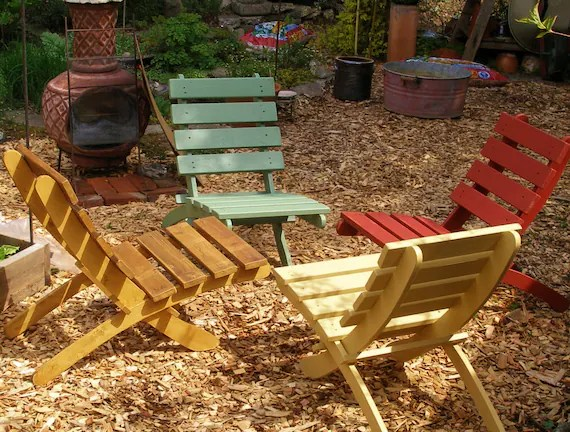 comfy outdoor chair rail for beadboard set of 4 great classic cedar chairs storable etsy image 0