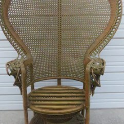 Fan Back Wicker Chair Party Table And Rentals Peacock Etsy Grand Vintage Rattan Hollywood Regency Bamboo Palm Beach Victorian Cottage Romantic Brown Emmanuelle