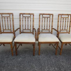 Bamboo Dining Chair Beach Chairs At Lowes Etsy Set 4 Faux Spindles Hollywood Regency Palm Four Dixie Cottage Coastal Brown