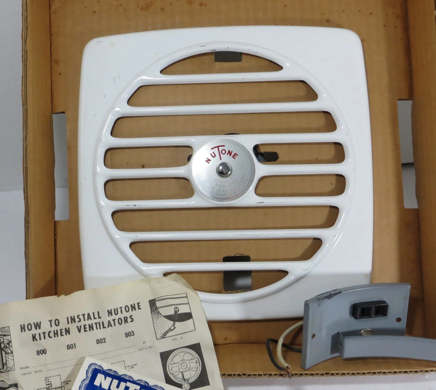 vintage 1950s kitchen exhaust fan nutone 8 inch wall vent old stock kit