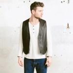 Brown Leather Biker Vest Vintage Men 90s Brown Leather Jacket Waistcoat Leather Vest Men Vest Size Medium M