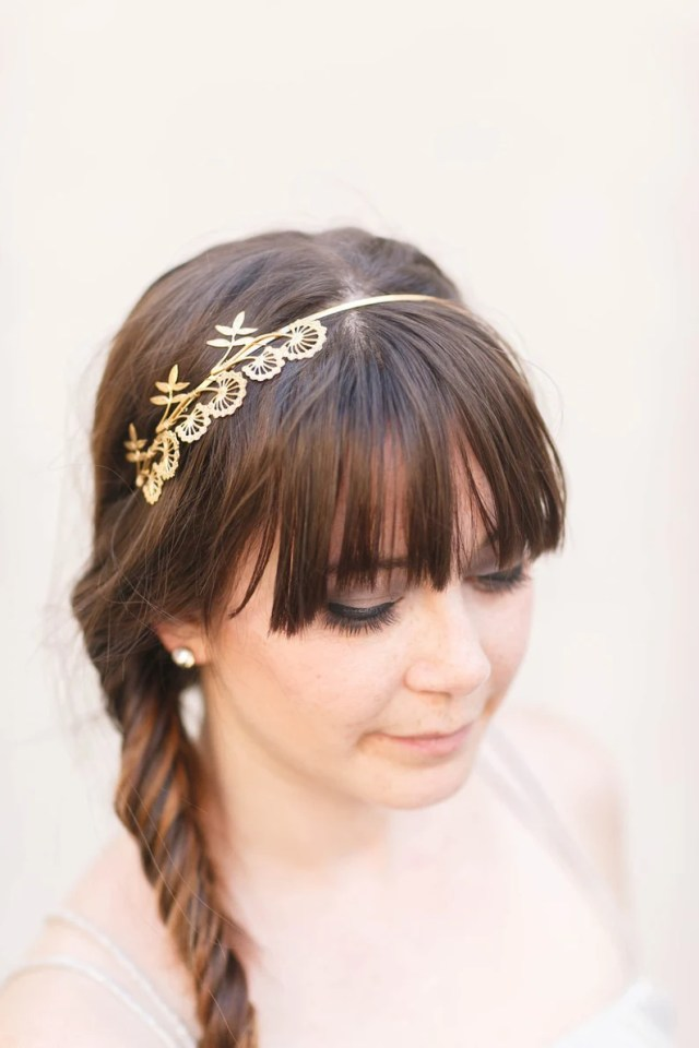 triple wildflower headband – bridal hair accessories, gold, silver, rose gold, flower crown, boho wedding, halo, tiara, hair piece, floral