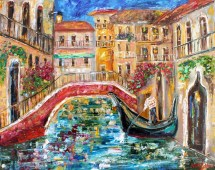 venice spring painting in oil landscape