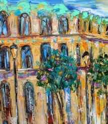 paris spring painting in oil landscape