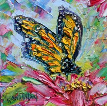 butterfly painting monarch art