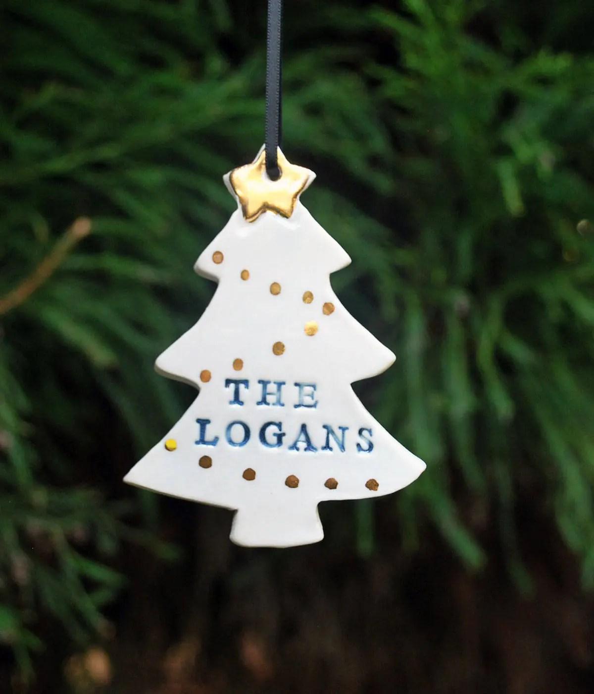 Personalised Christmas Tree Ornaments