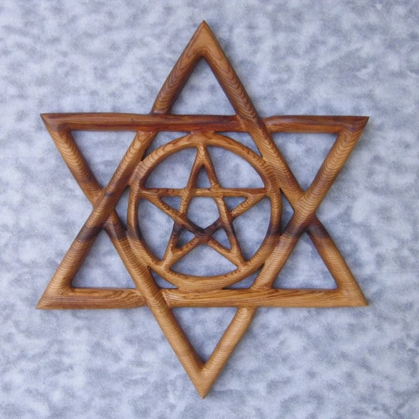 Kabbalistic Star-celtic Pentacle Star Of David Knot