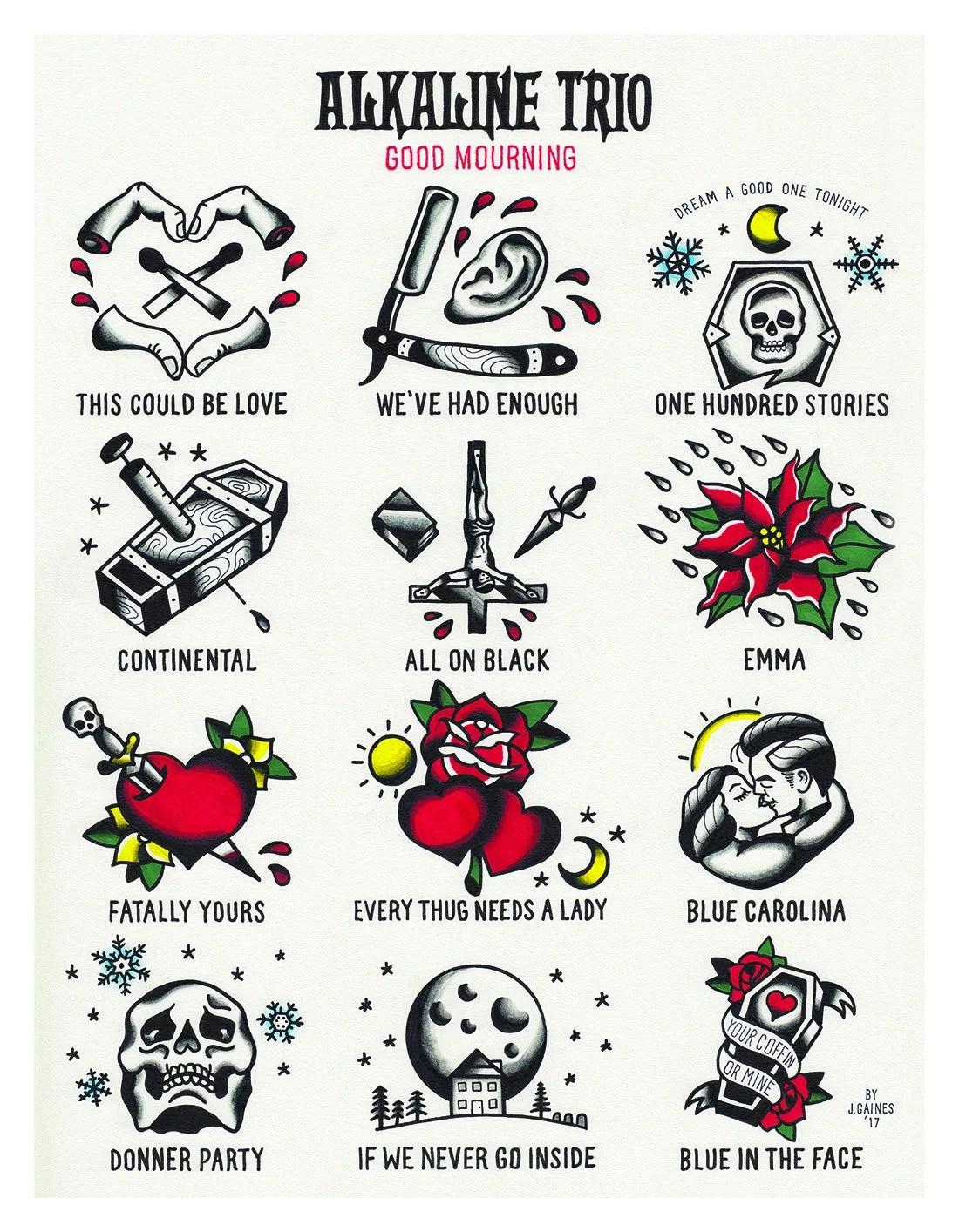 alkaline trio tattoo flash