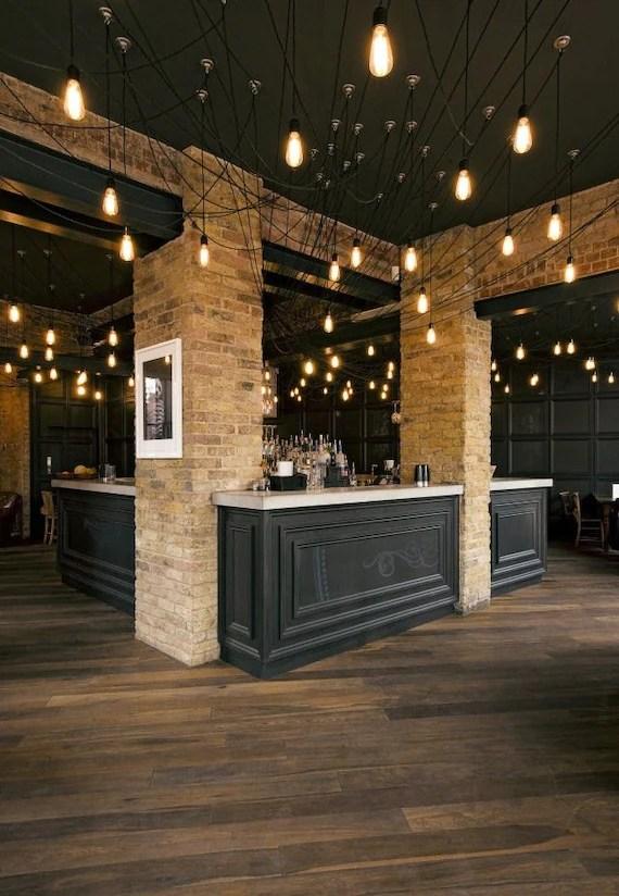 industrial lighting restaurant swag chandelier 14 pendant etsy