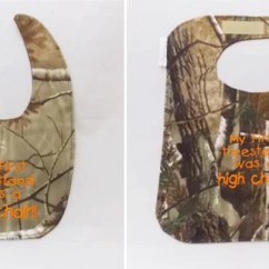 High Chair Deer Stand Covers For Parsons Dining Chairs First Tree Was A Hunting Baby Bib Small Etsy Image 0