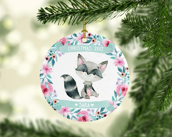 Childrens Christmas Ornaments Personalized Girls