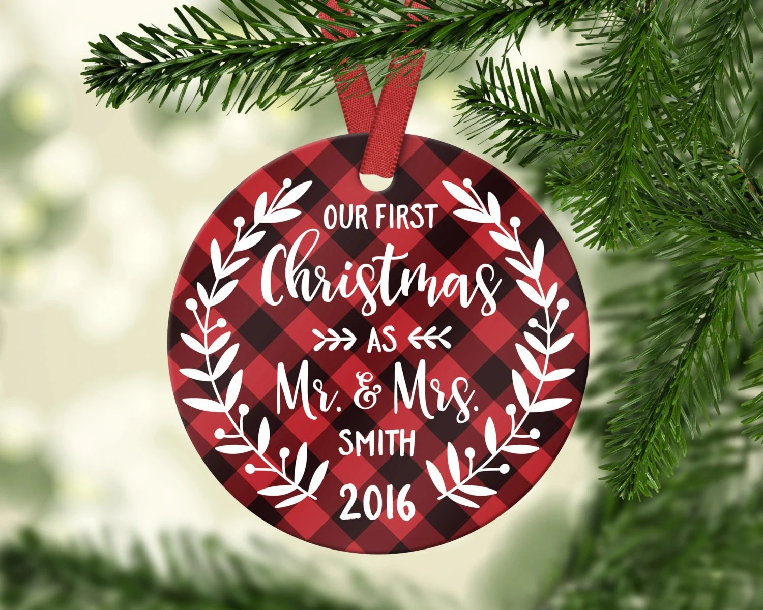 First Married Christmas Ornament Diy