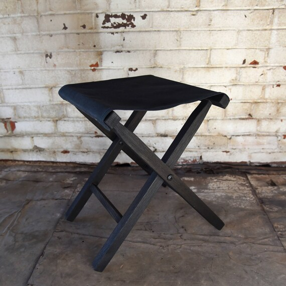 lewis and clark camping chairs stressless chair repair black expedition folding stool waxed canvas etsy image 0