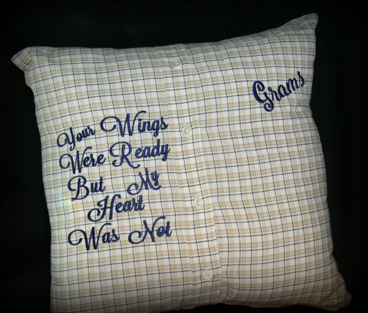 Memory PillowKeepsake Pillow made from your loved ones shirt