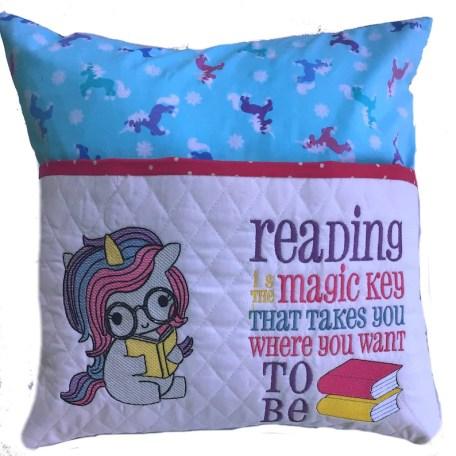 Little Unicorn Reading Pillow Little Girl Book Pillow Baby image 0