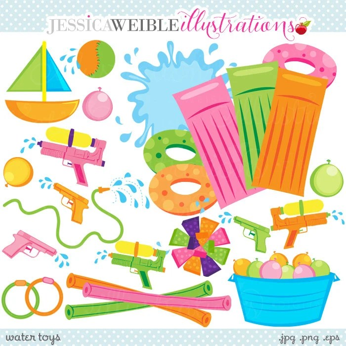water toys cute clipart
