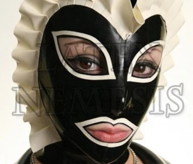 Items Similar To Latex Sissy Maid Hood Rubber Mask 5 Pannel Form Fitting On Etsy