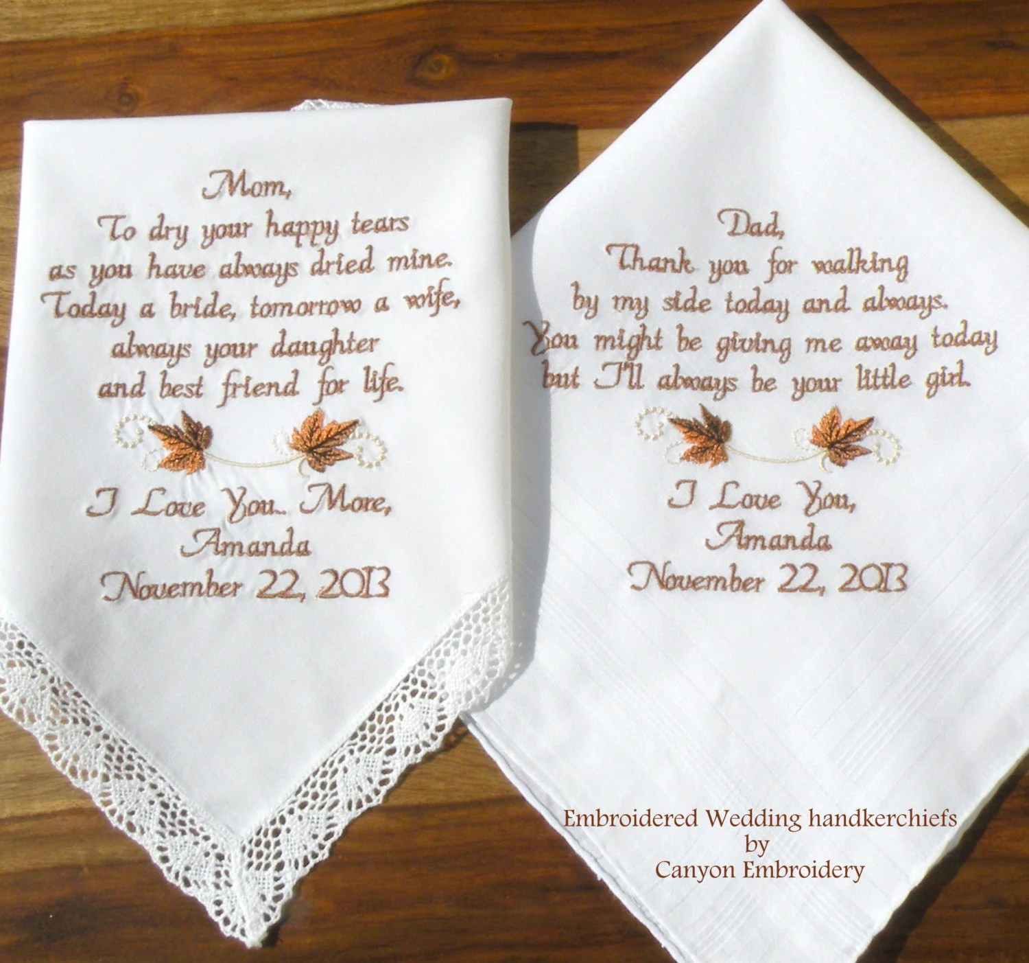 embroidered wedding hankerchiefs fall