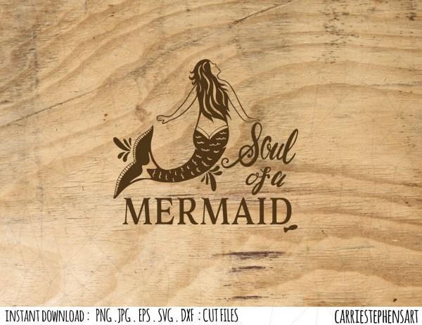 Soul Of Mermaid Love Swimming Swim Team Cricut