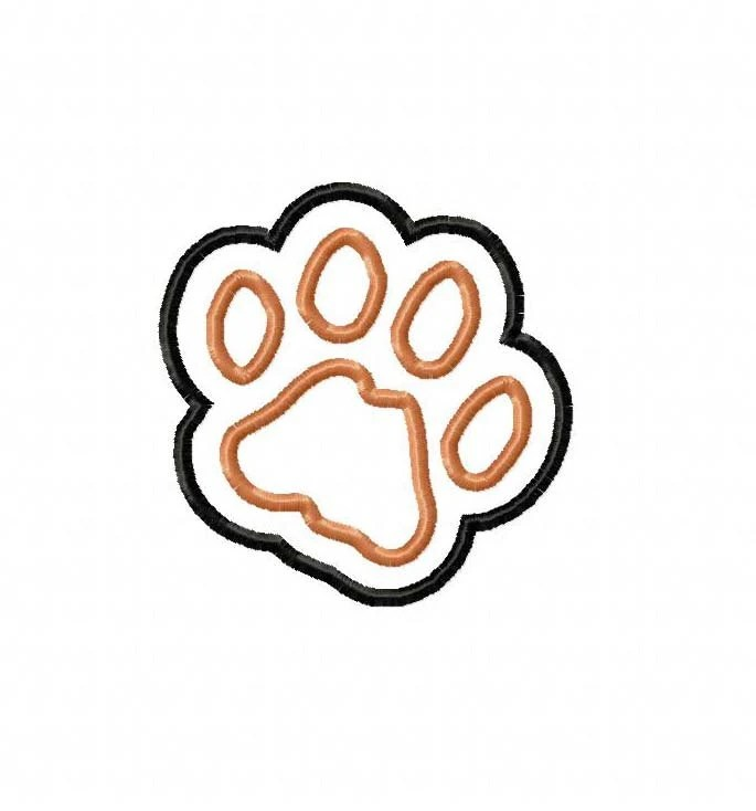lion paw print embroidery