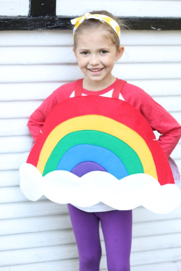 Childs Rainbow Costume Halloween Ready Kids