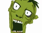 Zombie from the apocalypse digital embroidery design, Zombie digitized embroidery design