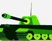 Tank digital embroidery design, Tank digitized embroidery design