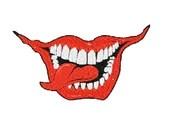 Scary mouth digital embroidery design, Scary mouth digitized embroidery design